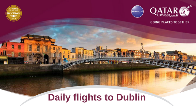 Qatar daily flights to Dublin